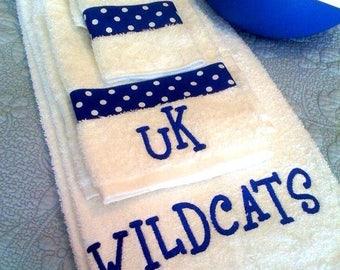 Embroidered Towel Set - Bath set -Towel Set- Bath Towel- College- Sorority - Wedding -Shower -New Home -Housewarming