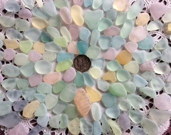 FREE Shipping Rough Pastel & UV small, medium Beach Sea Glass  RP-F7-F