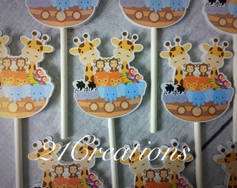 Noahs Arc cupcake toppers -set of 12