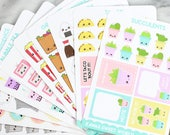 GLITCH Bundle - 10 Kawaii Planner Sticker Sheets