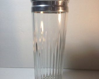 Cocktail Shaker - Vintage Indiana glass and aluminum Drink Mixer
