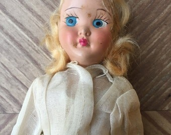 Vintage Very Old Pretty face doll