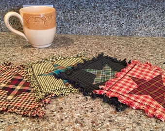 Quilted Mug Rugs - Trivets/Coasters - Americana, Rustic, Country, Western