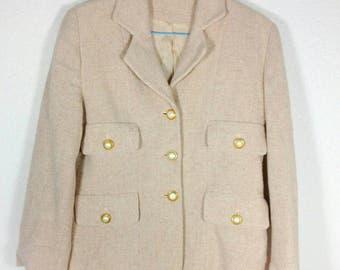 Wunderschön Bouclé Kostüm french-style Blazer Rock vintage dress jacket cardigan Sale!!!