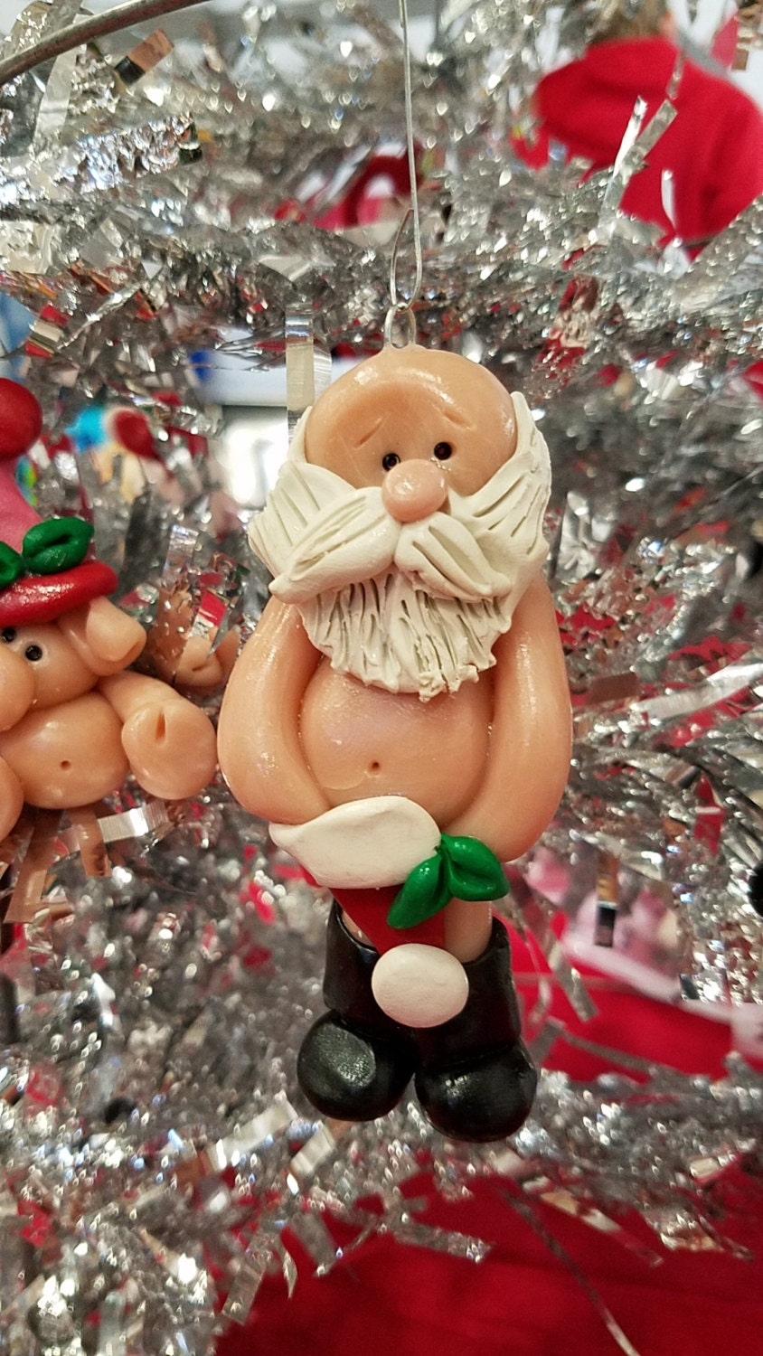 Polymer clay christmas ornament christmas by debbiesclaybabies