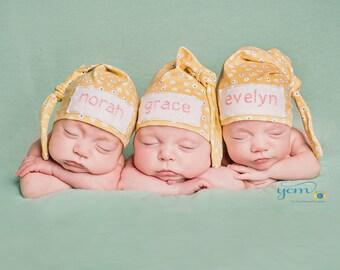 newborn name hat - personalized baby hat - monogrammed baby gift - newborn baby girl hat - hospital beanie