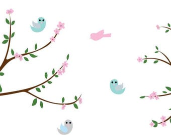 Nursery decals / wall decal / vinyl wall decal /  Cherry Blossom tree branch / vinyl decal / wall stickers / girls nursery decals