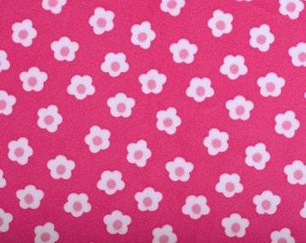 Minky fabric by the yard- flower field minky cuddle in fuchsia- flower minky fabric- one yard