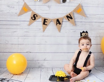 A Wild One Banner, Wild One Name Banner, Wild One Baby Shower, Wild One Birthday, Prince Banner, Where the Wild Things Are, Wild One Sign