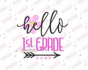 143- First grade for girls - machine embroidery design