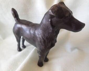 SALE NOW ON Antique cast iron  Black Patterdale Fell Terrier