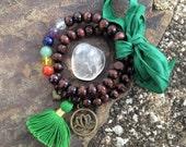 happy heart. mala bracelet set. chakra bracelets. READY TO SHIP