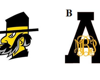 Appalachian State  Mountaineers Decal/RTIC YETI  Car Decal, Computer Decal, Window Decal, Cell Phone Decal