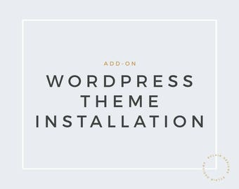 Wordpress theme installation service