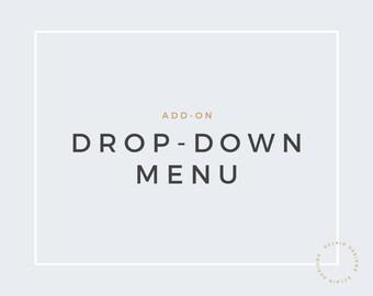 Blogger Drop Down Menu