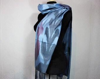 Ikat Scarf, Silk Scarf