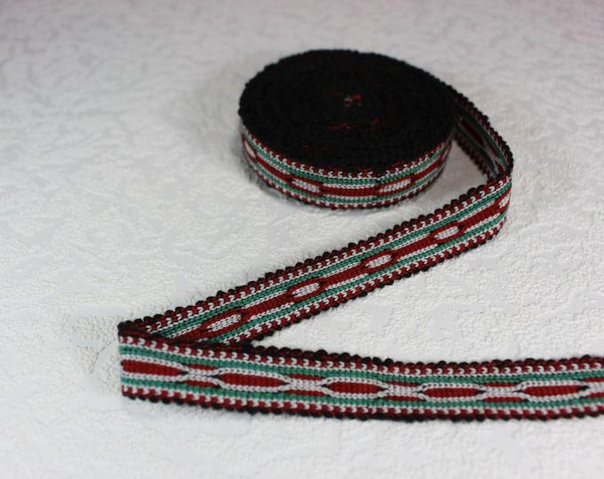 Woven Trim (6 yards), Woven Border, Cotton Ribbon, Grosgrain Ribbon, Dress Border, Border Trim, R164