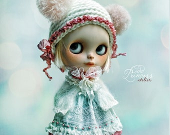 Blythe Ooak Set SWEET MAGIC By Odd Princess Atelier, Dress, Jacket, Helmet, Victorian Outfit, Special Dress