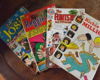 Lot of Four Vintage Comic Books with Free Shipping!