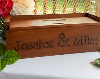 Wine Box, Wine Box Ceremony, Personalized Wine Box, Wedding Gift, Gift for Bride and Groom, Love Letter Box, Time Capsule