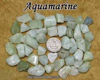 Aquamarine (small) tumbled stone for crystal healing