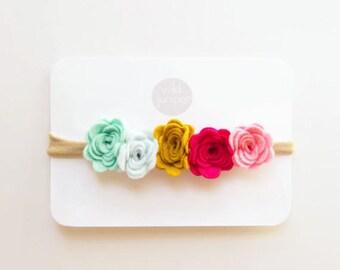 Flower Crown - Felt Flower Crown in Bright Colors