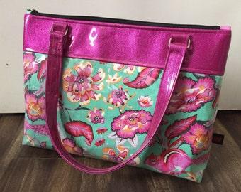 Handmade Tula Pink Chipper  Purse // vegan purse // Tula Pink Fabric // Chipmunk // Sparkle Vinyl