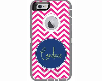 Custom iPhone 6 & iPhone 6s Chevron Otterbox Defender Phone Case | Personalized Otterbox Phone Case