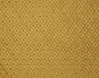 Antique Radio Grille CLOTH Fabric Vintage SPEAKER Repair - # DG 13 - Gold  Diamond Pattern
