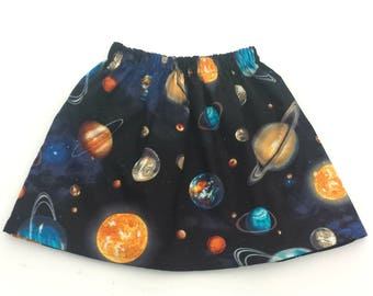 Planets Skirt, Outer Space, Space Skirt, Space Outfit, Planet Gift, Space Gift, Girls Skirt, Special Occasion, Party Skirt, Girls Clothing
