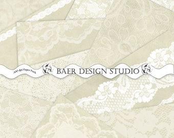 LACE DIGITAL PAPER, Wedding Digital Paper, Digital Paper Vintage, Digital Paper Ivory, Beige Lace Digital Paper, Lace Planner Paper,  #14155