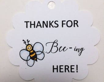 Thanks for Bee-ing Here Favor Tags