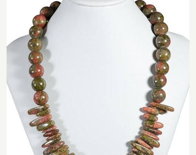 Forest Treasure Unikite Jasper Necklace