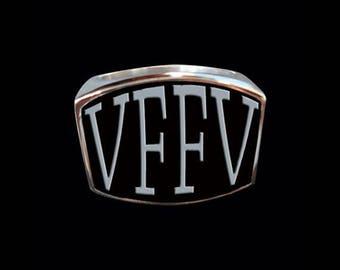 Stainless Steel VFFV 4 Letter Ring - Size 4 - Instock/Shipping