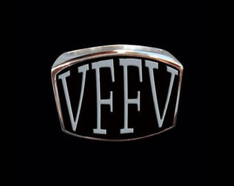Stainless Steel VFFV 4 Letter Ring - Size 10 - Instock/Shipping