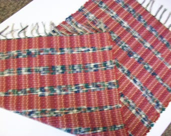 handmade barn red and multicolor loom woven South Dakota made