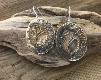 Bronze Shell Coin Earrings