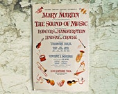 vintage poster The Sound of Music Broadway play, New York, Mary Martin, original cast, collectible posters, Broadway musical