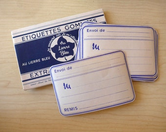 Nice French Vintage Sticker Tags from the 1950's - 1960's, New in Small Boxes
