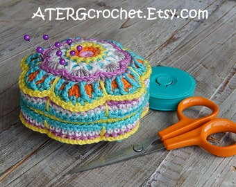 PINCUSHION FLOWER by ATERGcrochet