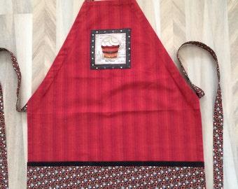 Red Tea Towel Apron