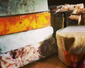 6 Full-Sized Bars, All-Natural Fragrant Soap and Shampoo, artisan gift soap, choose your scents, soap discount