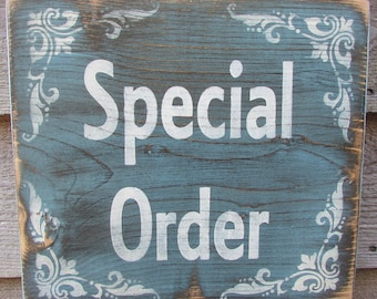 Special Order for Henderson