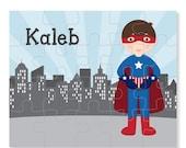 SALE Superhero Boy Puzzle - Personalized Puzzle for Kids - Jigsaw Puzzle - Superhero Puzzle - Personalized Name Puzzle - 8 x 10 puzzle, 20 p