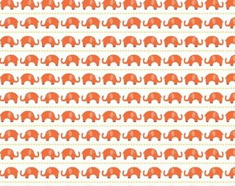 Riley Blake Designs- Oh Boy - Orange Elephants