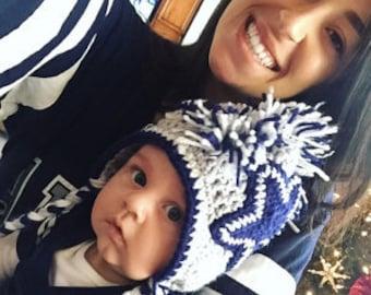 Dallas Cowboys Football Inspired Baby Hat-  Newborn - 12 mos.