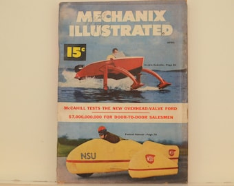 Mechanix Illustrated Magazine, April 1952 - Great Condition, Tips,  Science, Technology, Hundreds of Vintage Ads, Frank Tinsley Pulp Art