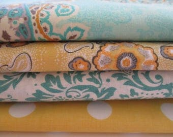 FREE SHIPPING - Quilting Fabric Bundle - Quilting Fabric by the Yard -  1/2 Yd Each - Total of 2 Yards