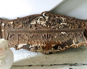 Hold for Kim-Vintage Salvage Metal Ornate Iron Architectural Piece