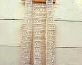 ivory crochet cotton vest,  womens vest, crochet vest, bohemian fashion, hipster fashion
